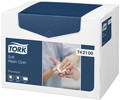 Tork Panno per lavaggio pazienti monouso Premium, 1 velo, goffrato, 1 conf. x 135 panni, 30 cm x 19,2 cm, resistente, bianco