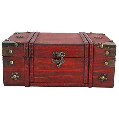 Cajas de almacenamiento retro, Caja de almacenamiento para el hogar Caja de madera para manualidades Caja de joyería de madera, para tienda de cosméticos, joyas, letras Adornos de