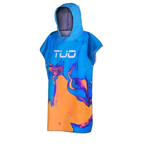 Huangjiahao handdoek Poncho duiken mantel volwassen zwemmen handdoek kleding mannen en vrouwen snorkelen capuchon sneldrogende badjas strandhanddoek veranderen kleding Cover voor surfen zwemmen en strand