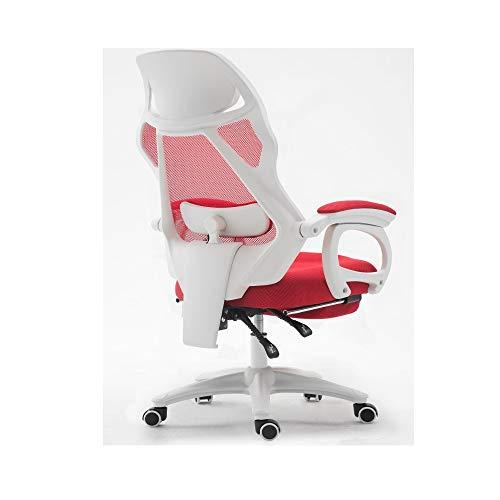 de LLZK Chaises lombaire de bureau d'oreiller chaise jeu Maison se chaise coucher massage Tourner ascenseur glisser maille chaise faire de ordinateur R54jqLA3
