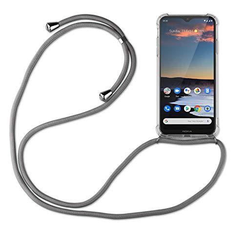 betterfon | Handykette kompatibel mit Nokia 5.3 Smartphone Necklace Hülle mit Band - Schnur mit Hülle zum umhängen in Nokia 5.3 Grau