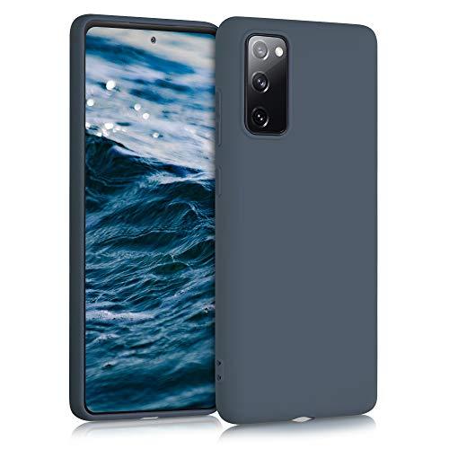 kwmobile Carcasa para Samsung Galaxy S20 FE - Funda para móvil en TPU Silicona - Protector Trasero en Gris Pizarra