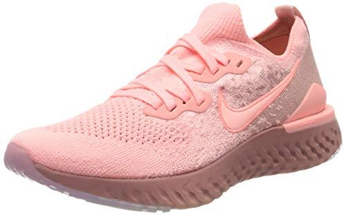 Nike Epic React Flyknit 2, Zapatillas de Running para Mujer, Rosa (Pink Tint/Pink Tint/Rust Pink/Celestial Gold/Black 600), 40.5 EU