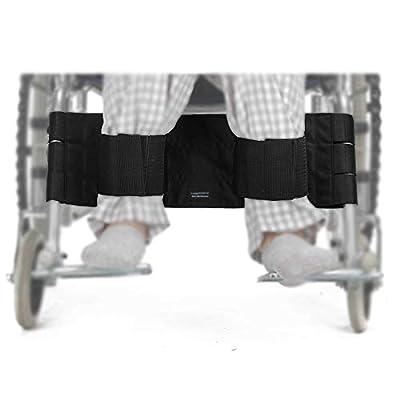Wheelchair Leg Strap Restraints Medical Wheelchair Seat Belt Safety Transport Footrest Foot Support Straps for Patients, Elderly & Seniors, Handicap