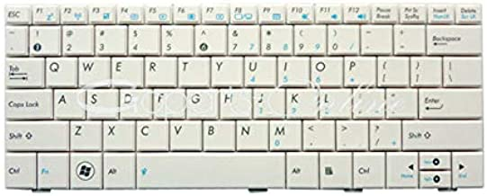 ACS COMPATIBLE with ASUS Keyboard US-English White W/MS 1008HA 1005HA Replacement