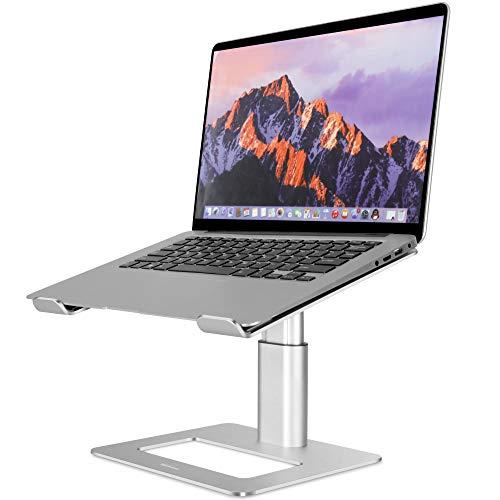 TopMate - Soporte para ordenador portátil de oficina para escritorio, altura ajustable, soporte de aluminio para portátil de hasta...