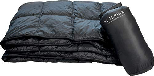"""Down Camping Blanket - Outdoor Lightweight Packable Quilt - Water Repellent - Nylon Shell - Sailing, Terrace, Travel, Festivals, Backpacking & Home Use 
