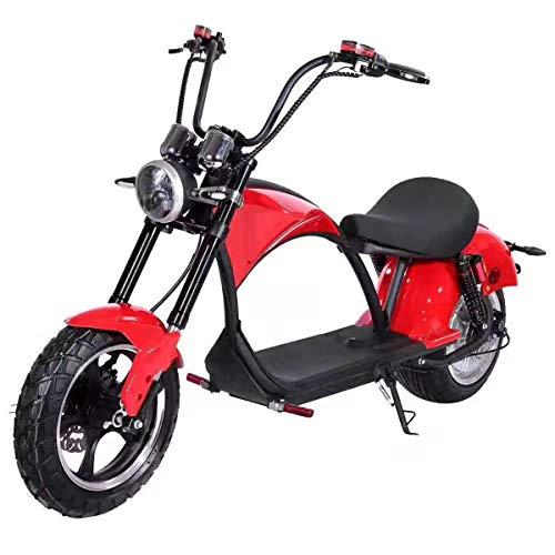 Eco Rider - Scooter eléctrico Harley Cupidon (rojo)