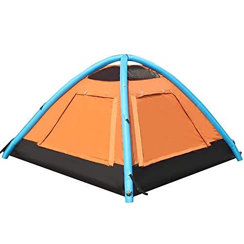 Aufblasbares Campingzelt Moskitonetz Zelt 2-3 Personen Aufblaszelt Mit Luftpumpe Atmungsaktiv Für Strandcamping Reisen Wandern
