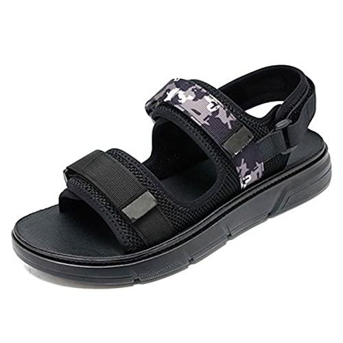 Sandalias Mujer Chanclas Plataforma del Verano Cómodos Zapatos Planas Elegante Punta Abierta Aldaba Zapatos Antideslizante Respirable Cómodo Fondo Grueso Shoes para jardín,Fiesta,Domingo,Pool
