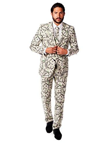 COOLMP Costume Mr. Cashanova Homme Opposuits - Taille L (EU 54) - Déguisement pour Adulte, Costume, soirée déguisée, Carnaval, Nouvel an, Anniversaire
