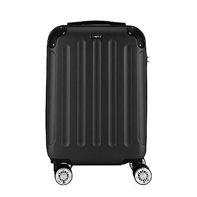 Sunydeal Valise Cabine ABS Ultra Légère à 4 Roues Bagage Rigide Résistante pour Voyages Taille Moyenne 65x40.5x25cm Bleu