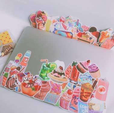 KATTERS Bebidas refrescantes adhesivos decorativos DIY para niñas pegatinas decoración corazón 75 piezas de adhesivos platos para frigorífico móvil