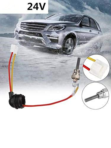 12V 24V Standheizung Zündkerzenarmaturen, Standheizung Universal Air Diesel Glühkerze passend für Eberspacher D2 D4 D4S und andere Standheizungen