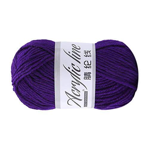 1 hilo de lana de 50 g de acrílico grueso y colorido a mano, de grosor de lana cálida B4, duradero...