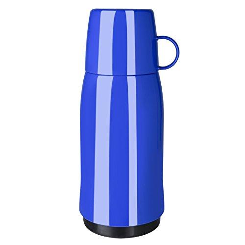 Emsa 502442 Isolierflasche, Mobil genießen, 500 ml, Schraubverschluss, Blau, Rocket