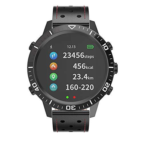 WENQAN Elektronische Uhr für Damen- und Herrenmode, Smart Fitness-Uhr mit Farbdisplay, Trittfrequenz-Metronom, MP3-Musik, Takt, Laufschrittuhr-Black