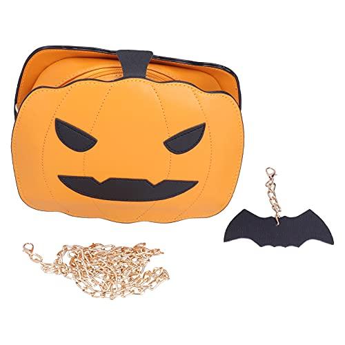 Bolso de Mano de Calabaza para Mujer, Bolso de Caramelos de Halloween, Bolso de Mano con Forma de Calabaza, Bolso de Mensajero de Hombro de Gran Capacidad para el Festival de Halloween(marrón)