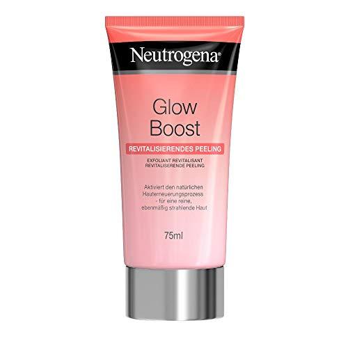 Neutrogena Glow Boost Revitalisierendes Peeling, Gesichtspeeling mit Mandelsäure und natürlichen Peeling-Kügelchen, für eine reine und ebenmäßig strahlende Haut (1 x 75 ml)