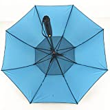 SANGSI Antivento dell'ombrello della Pioggia dello spruzzo d'Acqua Fan Ombrello con Protezione Solare Ventola di Raffreddamento Esplosione Umbrella Umbrella Impermeabile, Blu
