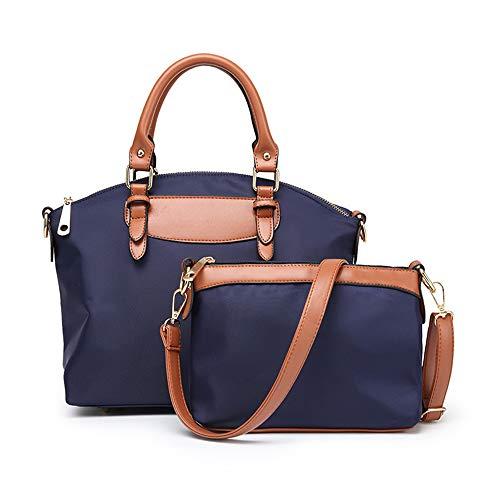 Unbekannt Frauenhandtasche Oxford-Tuch-Schulterbeutel weiblicher beiläufiger Segeltuchgroßer Beutel-Tendenzart und weise Kurierbeutel-Multifunktionsgroßraum wasserdicht,Blue