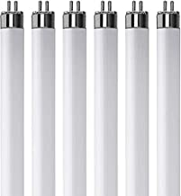 "(Pack of 6) F13T5/CW - T5 Fluorescent 4100K Cool White - 13 Watt - 21"" Super Long Life Light Bulbs"