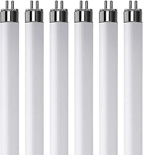 (Pack Of 6) F13T5/CW - T5 Fluorescent 4100K Cool White - 13 Watt - 21 Super Long Life Light Bulbs
