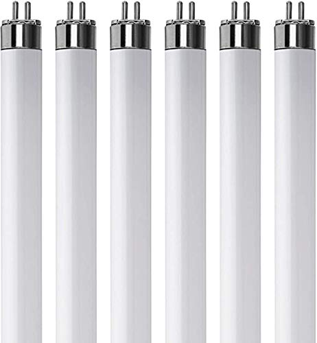 (Pack Of 6) F13T5/CW - T5 Fluorescent 4100K Cool White - 13 Watt - 21' Super Long Life Light Bulbs