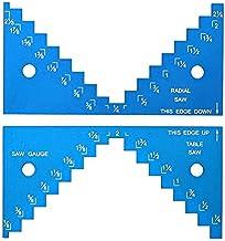 Medidor de profundidad 1/8 a 2-1/4 pulgadas Aleación de aluminio Miniatura Hoja de sierra Herramienta para trabajar la madera DIY Mesa Sierra Regla de medición - Azul