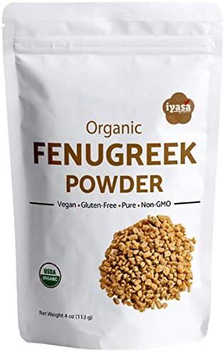 Organic Fenugreek Seeds Powder Methi 8 Oz 223 Gm USDA Organic Food Flavoring agent Supports product image