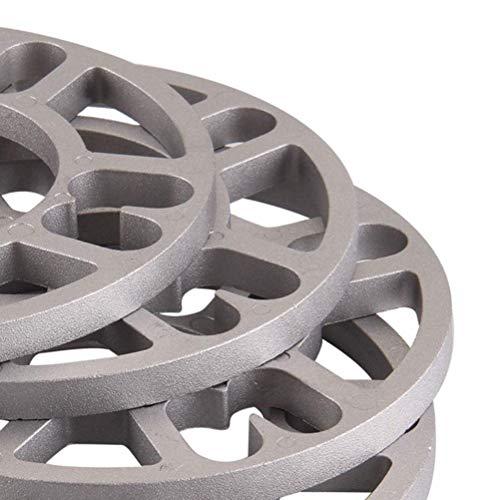 ZZMWLES 4 unids/Set 3/5/5/8 / 10mm Coche espaciadoras de la Rueda de la Placa de la Placa de Aluminio de la Placa 4 5 Stud para 4x100 4x114.3 5x100 5x108 5x114.3 5x120 Llantas (Color : 3mm)
