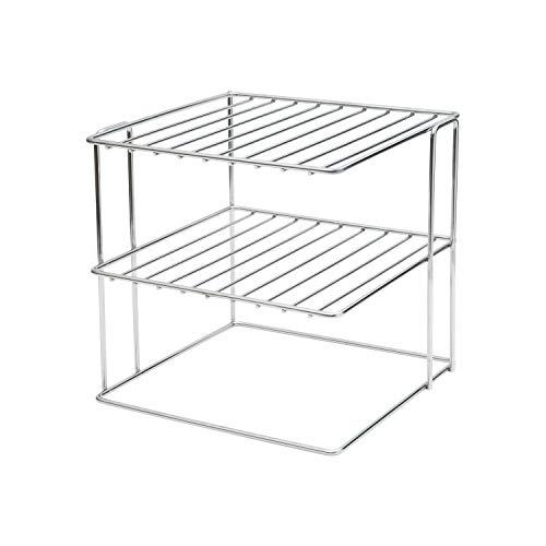 Organize It All Chrome Kitchen Corner Shelf, Pack of 1, Silver