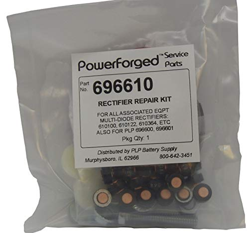 100 Amp Rectifier Rebuild Kit Contains All Components Necessary to Rebuild Burned-Out Associated Eqpt Rectifiers 610100, 610122, 610364, PowerForged Rectifiers 696600, 696601, 696604, 696605