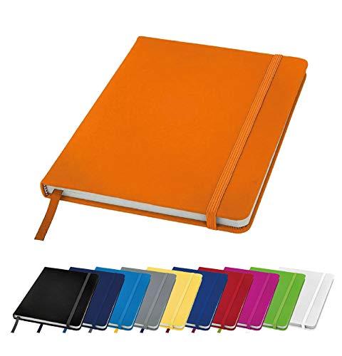 Bantersaurus Notizbuch, A6, liniert, Hardcover, klein, Tagebuch, Taschennotizblock, Orange