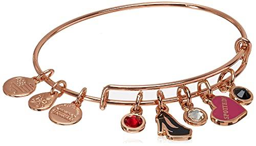 Alex and Ani Gossip Girl, Spotted Multi Charm Bangle Bracelet Shiny Rose Gold One Size, AS20EBGG06SR