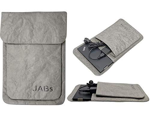 Iphepha - Laptop Tasche passend für MacBook Hülle Laptophülle Papier Notebook Bag kompatibel mit 13-14 Zoll Laptops MacBook Air MacBook Pro Retina IPad (13 - 14 Zoll, Grau)