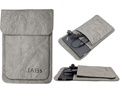 Iphepha - Laptop Tasche passend für MacBook Hülle Laptophülle Papier Notebook Bag kompatibel mit 13-14 Zoll Laptops MacBook Air MacBook Pro Retina IPad (13 - 14 Zoll, Grau)