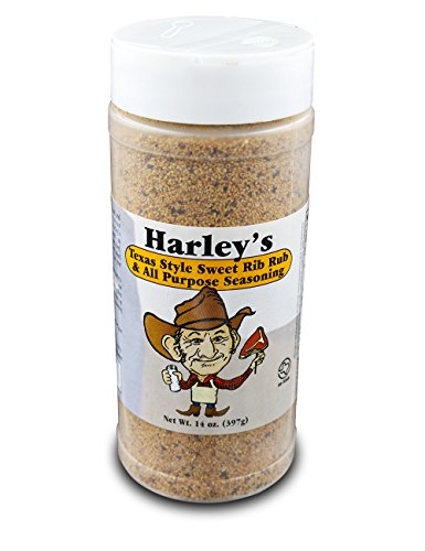Harley's Sweet Rib Rub Texas Seasoning | All Purpose Sweet BBQ Seasoning Perfect for Seasoning Everything From Meat to Seafood.
