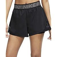 NIKE W Nk FLX 2in1 Short Wvn Essnt Pantalones Cortos de Deporte, Mujer, Black/Black/(Thunder Grey), S