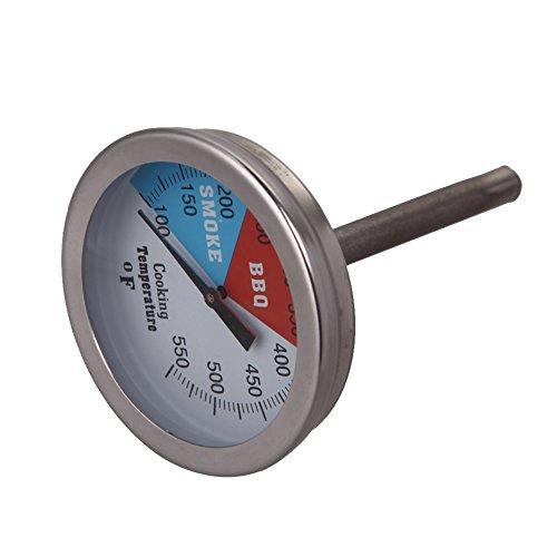 demiawaking 5,1cm 550RWB Banderole pour barbecue grill à charbon en bois fumée Four Pit Manomètre à cadran numérique Température Thermomètre