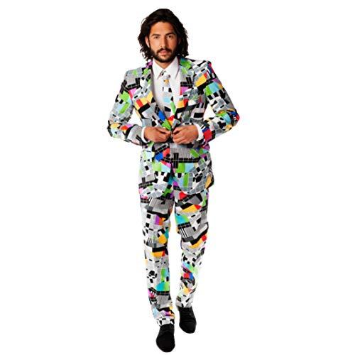 Testival Testbild Anzug bunt Slimline Herren 3-teilig Premium Gr 50