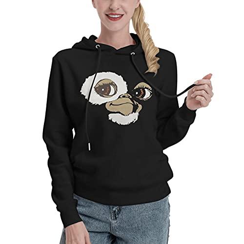 Gizmo Gremlins - Sudadera con capucha para mujer, estilo vintage, diseño con estampado de serigrafía, diseño clásico, Negro, L