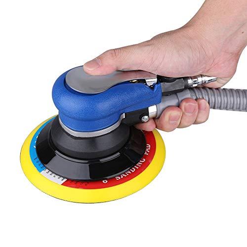 Ejoyous Exzenter Poliermaschine, 150 mm Druckluft Schleifer Exzenterschleifer Schleifmaschine Orbital Zufalls Schleifmaschine Poliermaschine Schleifen Luftschleifer