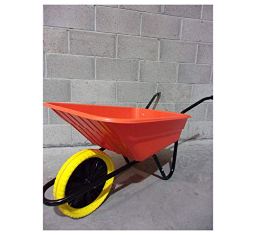 Walsall 90L Shire Plastic Builders Orange Wheelbarrow In A...
