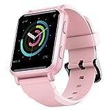 FINFIT GTM Smartwatch con GPS Integrato, Cardiofrequnzimetro in Tempo Reale, Fitness Tracker Notificazione Messaggi, Lunga Durata della Batteria, Impermeabile IP68(Pink)