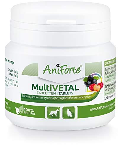 AniForte MultiVETAL Multivitamin für Hunde & Katzen - Natürliche Multi-Vitamine und Nährstoffe für eine optimale Versorgung, Unterstützung der natürlichen Abwehrkräfte (100 Stück)