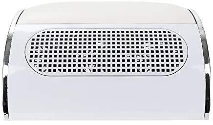 AZOREX Aspirador Uñas de Polvo Manicura Succión Colector de Polvo para Uñas con 3 Motor de Mesa Manicura y Pedicura con Bolsos Colectivo (Blanco)