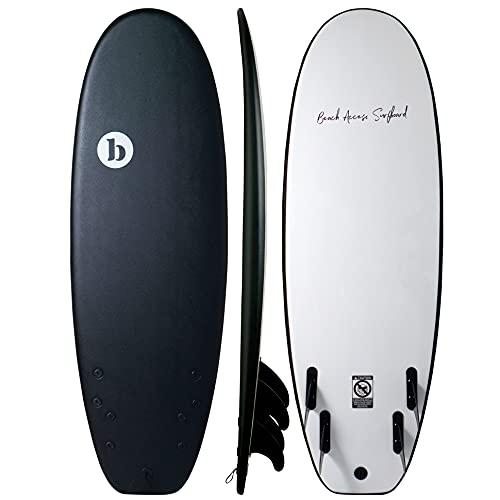 "Beach Access Surf ソフトボード サーフボード 5'4"" 35L ミニシモンズ ブラック (スポンジボード ソフトサ..."