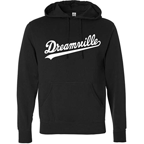 Hoodie Dreamville J Cole White Logo Pullover Fleece Sweater XL Black