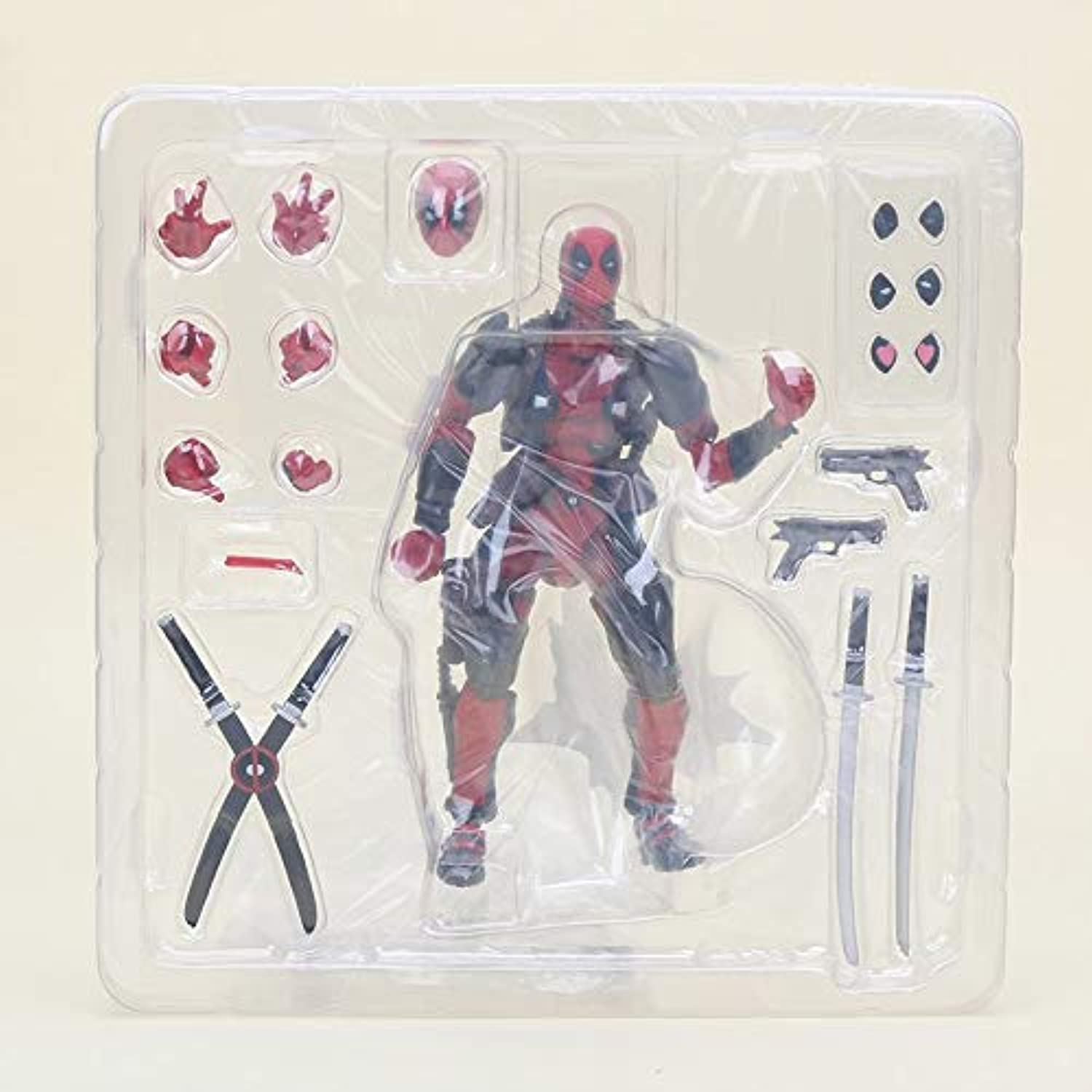 15cm 4styles Revoltech Series NO.001003 Deadpool Spider Man Venom Spider Gwen PVC Action Figure Collectible Model Toy Dolls